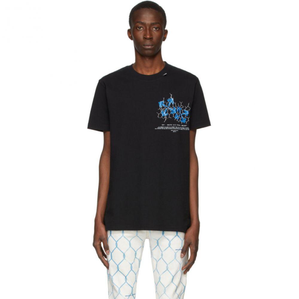 オフホワイト Off-White メンズ Tシャツ トップス【Black Fence Arrows T-Shirt】Black/Blue