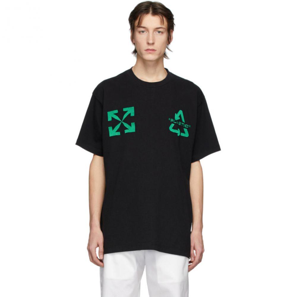 オフホワイト Off-White メンズ Tシャツ トップス【Black Universal Key T-Shirt】Black/Mint