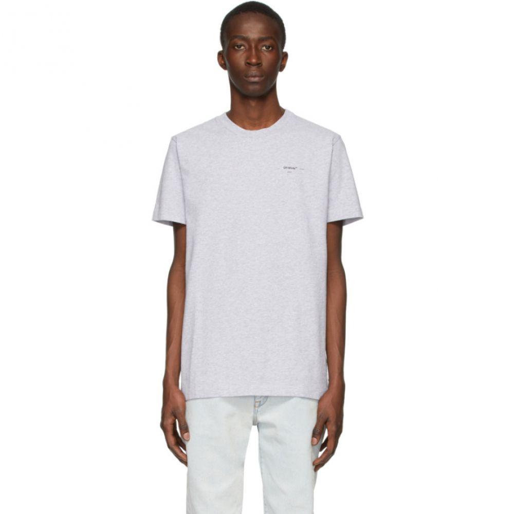 オフホワイト Off-White メンズ Tシャツ トップス【Grey Arrows T-Shirt】Grey/Black