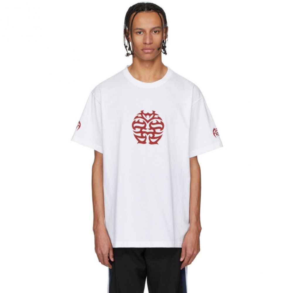 ヴェトモン VETEMENTS メンズ Tシャツ トップス【White 'Double Happiness' T-Shirt】White