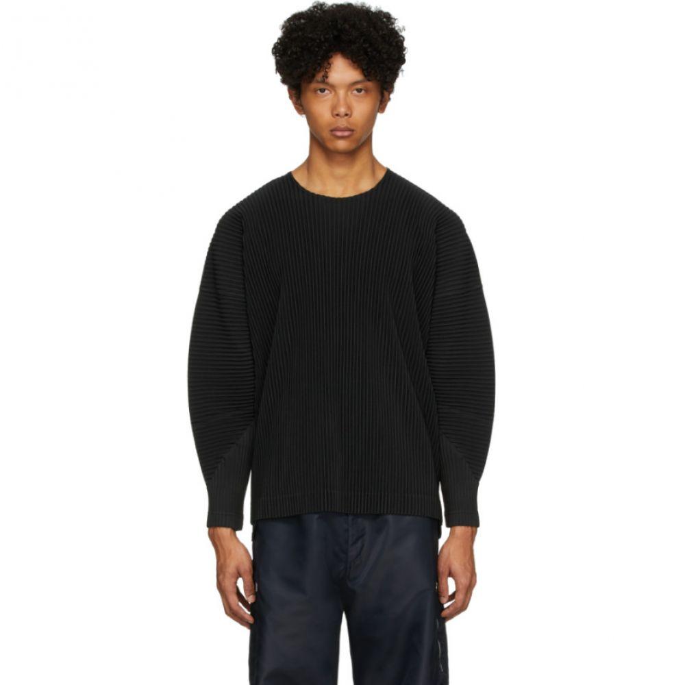 イッセイ ミヤケ Homme Plisse Issey Miyake メンズ 長袖Tシャツ トップス【Black Basics Long Sleeve T-Shirt】Black