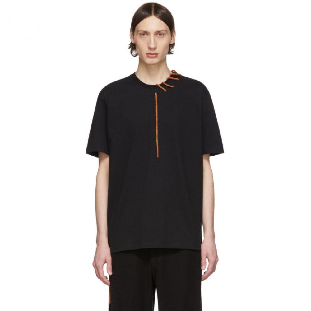クレイググリーン Craig Green メンズ Tシャツ トップス【SSENSE Exclusive Black Laced T-Shirt】Black