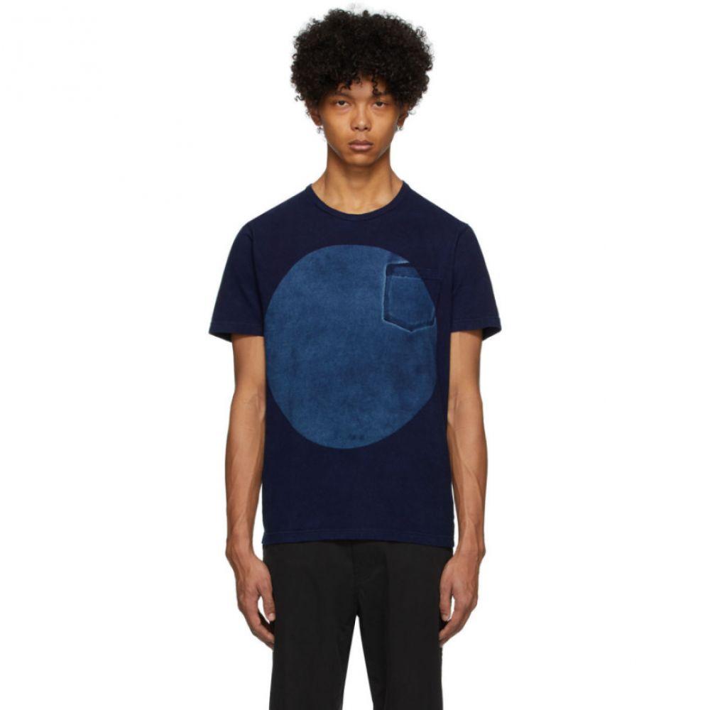 ブルーブルージャパン Blue Blue Japan メンズ Tシャツ トップス【Blue Big Circle T-Shirt】Indigo