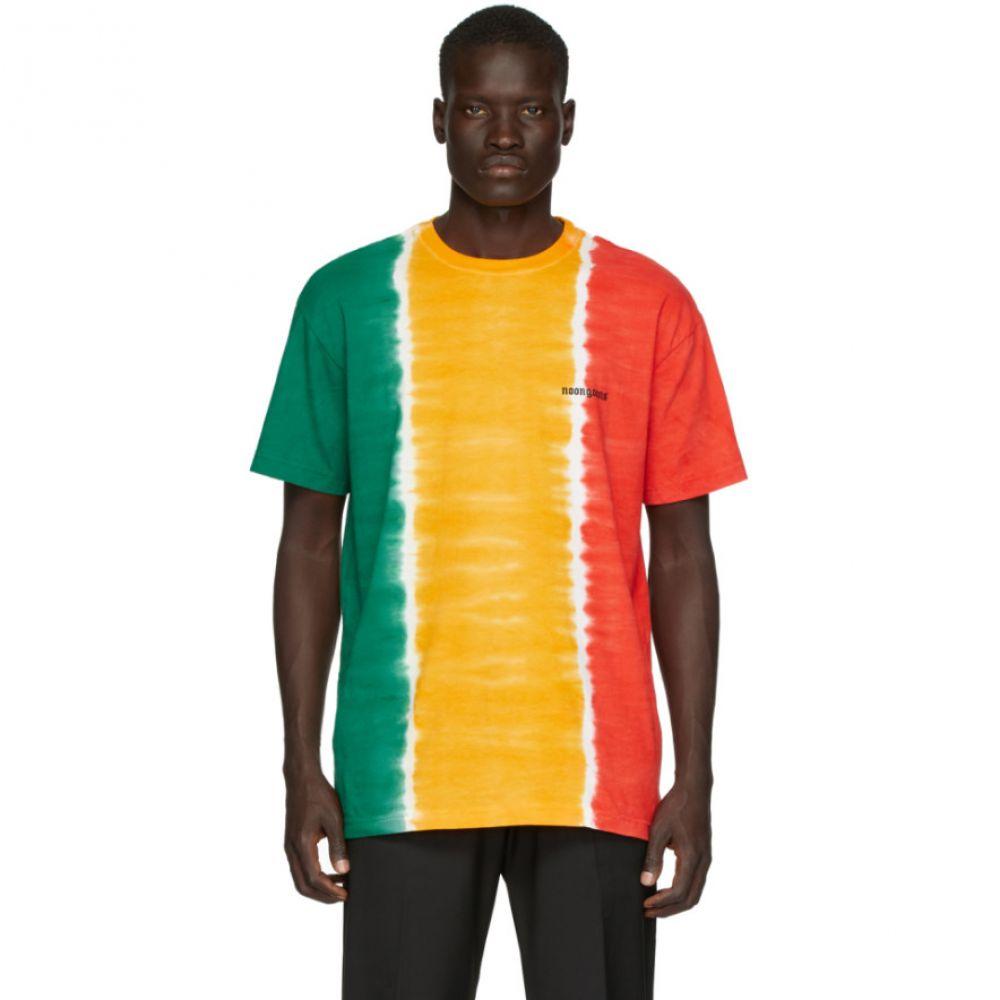 ヌーン グーンズ Noon Goons メンズ Tシャツ トップス【Green & Yellow Jah Dye T-Shirt】Green/Yellow/Red