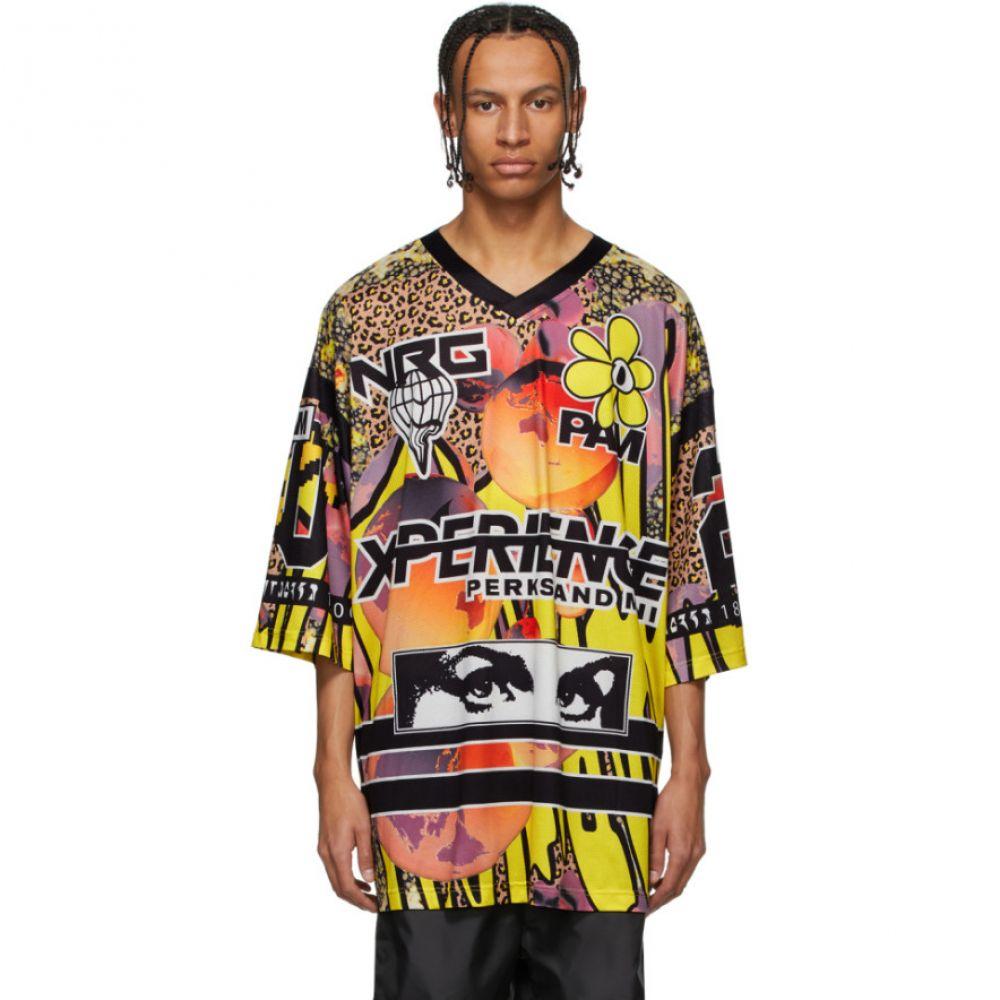 パークスアンドミニ Perks and Mini メンズ Tシャツ トップス【Multicolor Oversized Red Planet Hockey T-Shirt】Earth