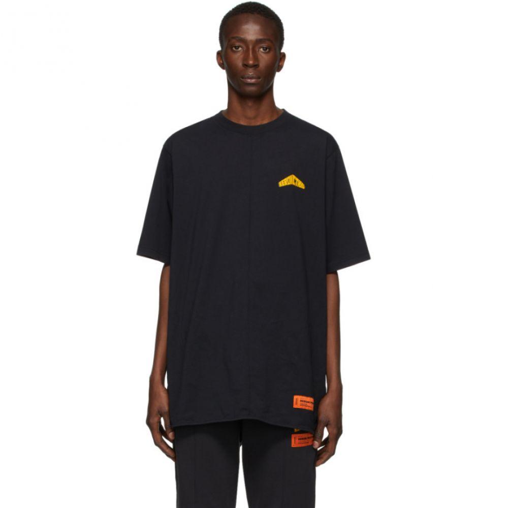 ヘロン プレストン Heron Preston メンズ Tシャツ トップス【Black 'Style' T-Shirt】Black/Yellow