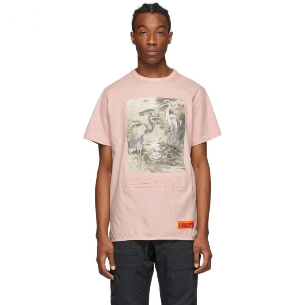 ヘロン プレストン Heron Preston メンズ Tシャツ トップス【Pink 'Heron' T-Shirt】Pink
