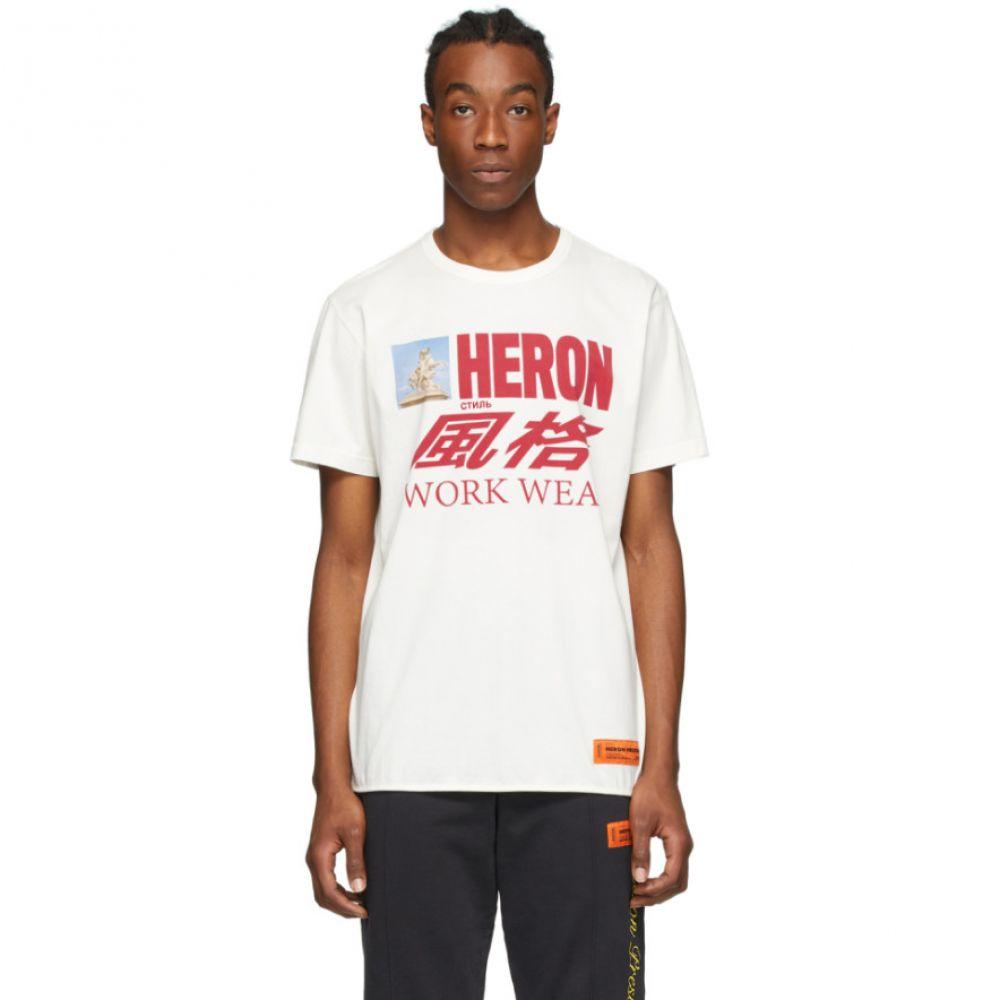 ヘロン プレストン Heron Preston メンズ Tシャツ トップス【White Heron Horse T-Shirt】White/Multicolor