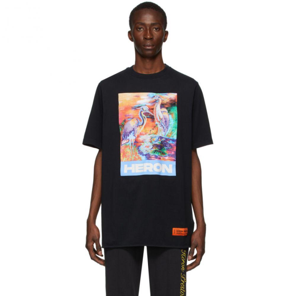 ヘロン プレストン Heron Preston メンズ Tシャツ トップス【Black Heron Colors T-Shirt】Black