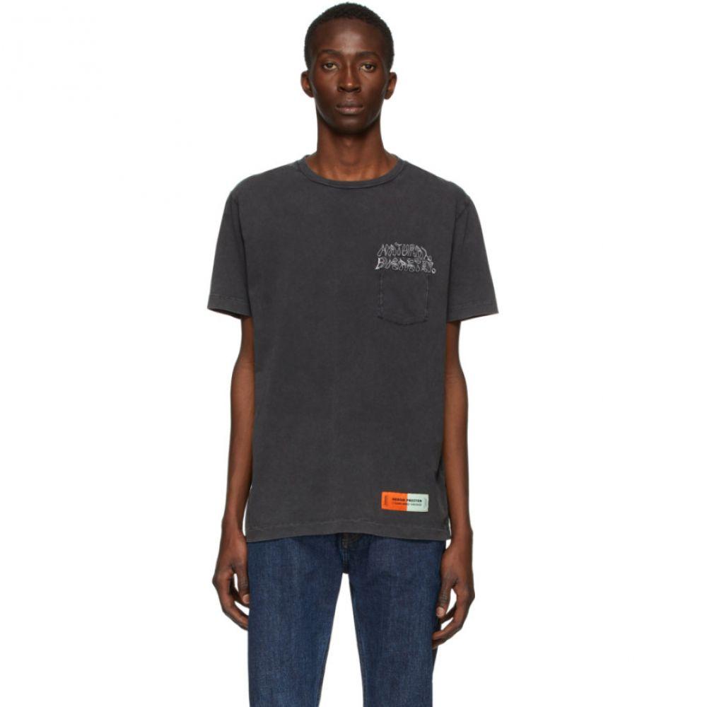 ヘロン プレストン Heron Preston メンズ Tシャツ ポケット トップス【Black Sami Miro Vintage Edition Pocket T-Shirt】Black