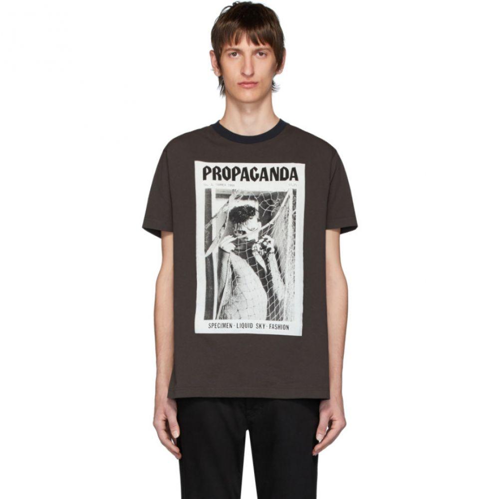 アクネ ストゥディオズ Acne Studios メンズ Tシャツ トップス【Brown Propaganda Magazine Edition T-Shirt】Faded black