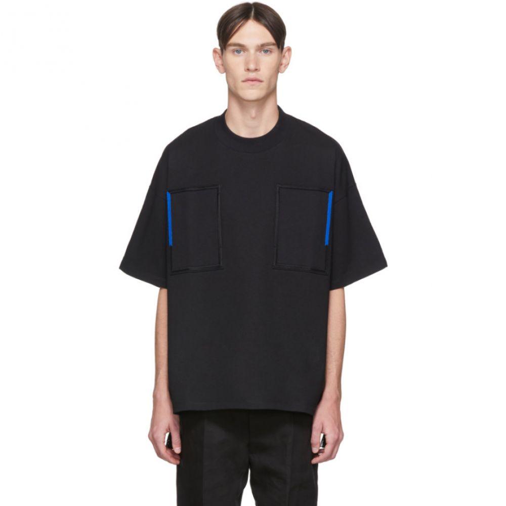 ジル サンダー Jil Sander メンズ Tシャツ トップス【Black Embroidery T-Shirt】Black