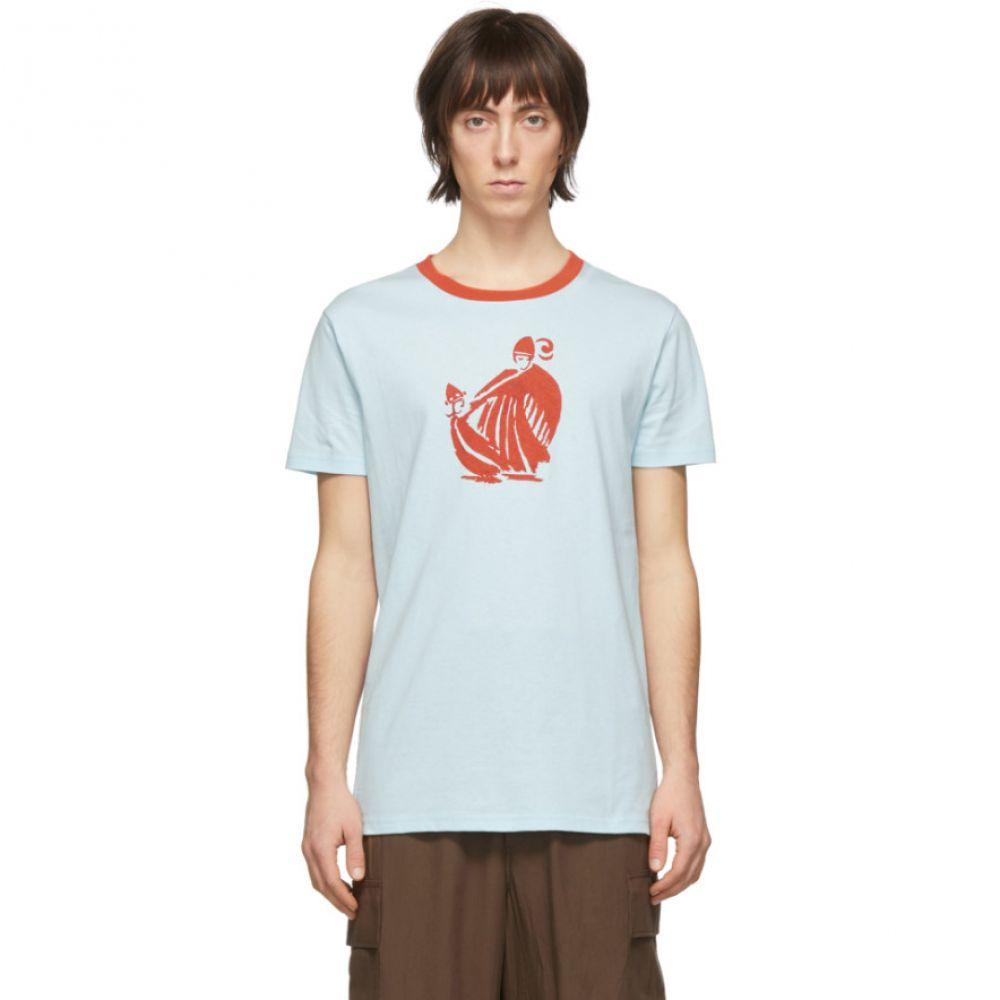 ランバン Lanvin メンズ Tシャツ トップス【Blue Mother & Daughter T-Shirt】Lanvin blue