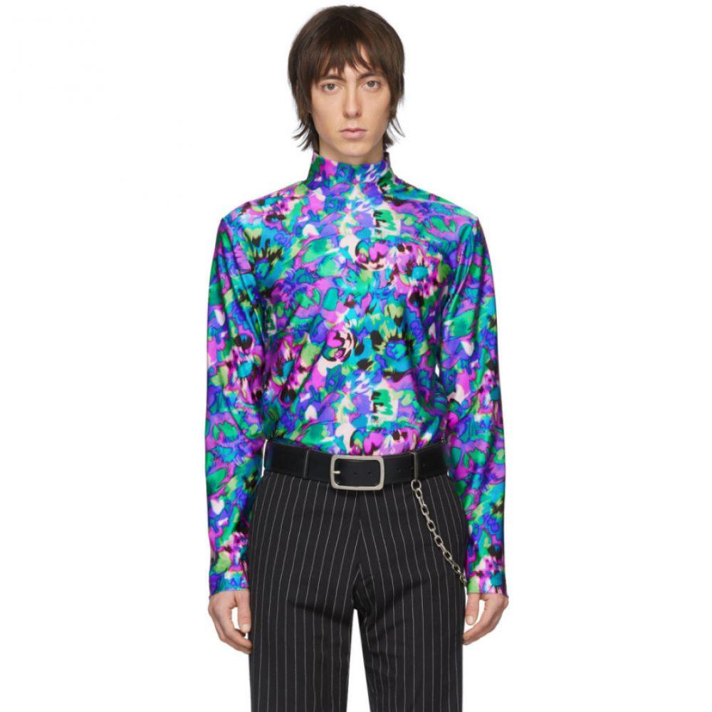 ドリス ヴァン ノッテン Dries Van Noten メンズ Tシャツ トップス【Multicolor Floral Mock Neck T-Shirt】Multi