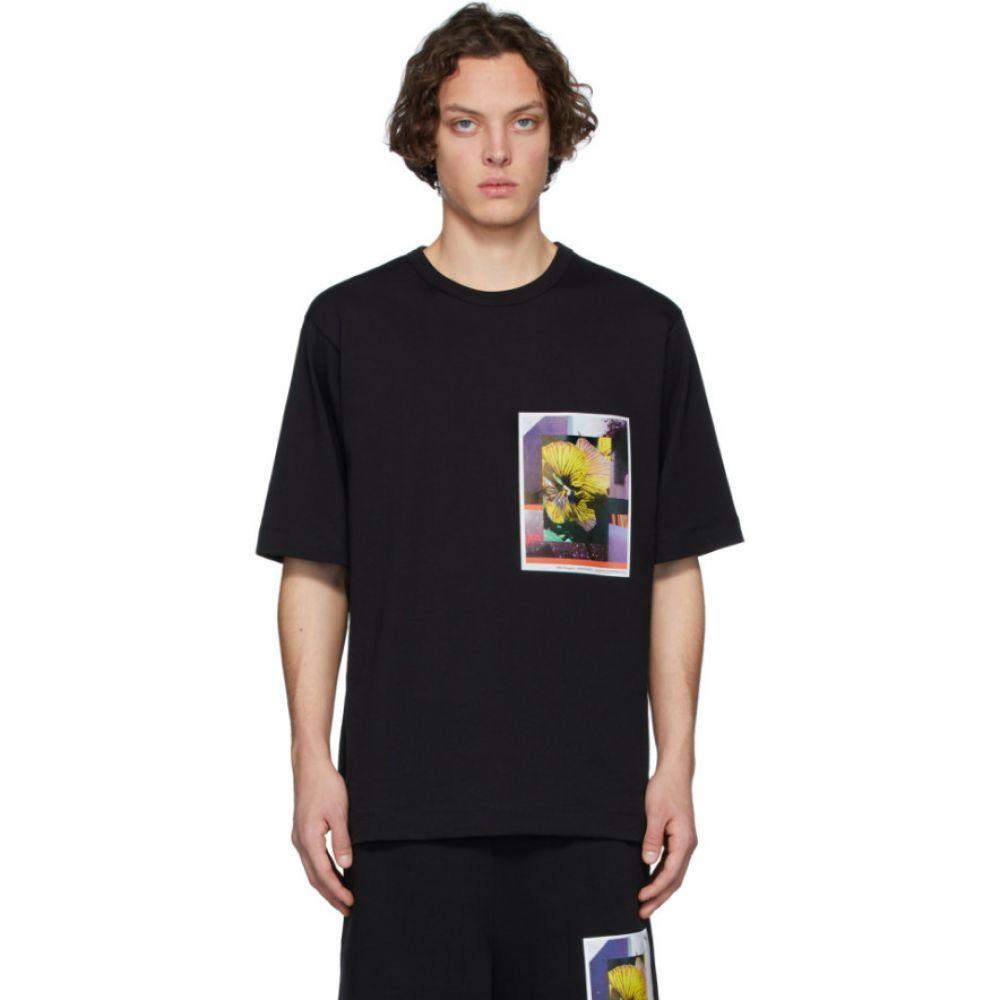 ドリス ヴァン ノッテン Dries Van Noten メンズ Tシャツ トップス【SSENSE Exclusive Black Mika Ninagawa Edition Print T-Shirt】Black