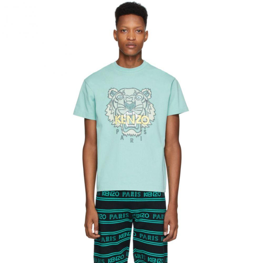 ケンゾー Kenzo メンズ Tシャツ トップス【Blue Tiger T-Shirt】Aqua