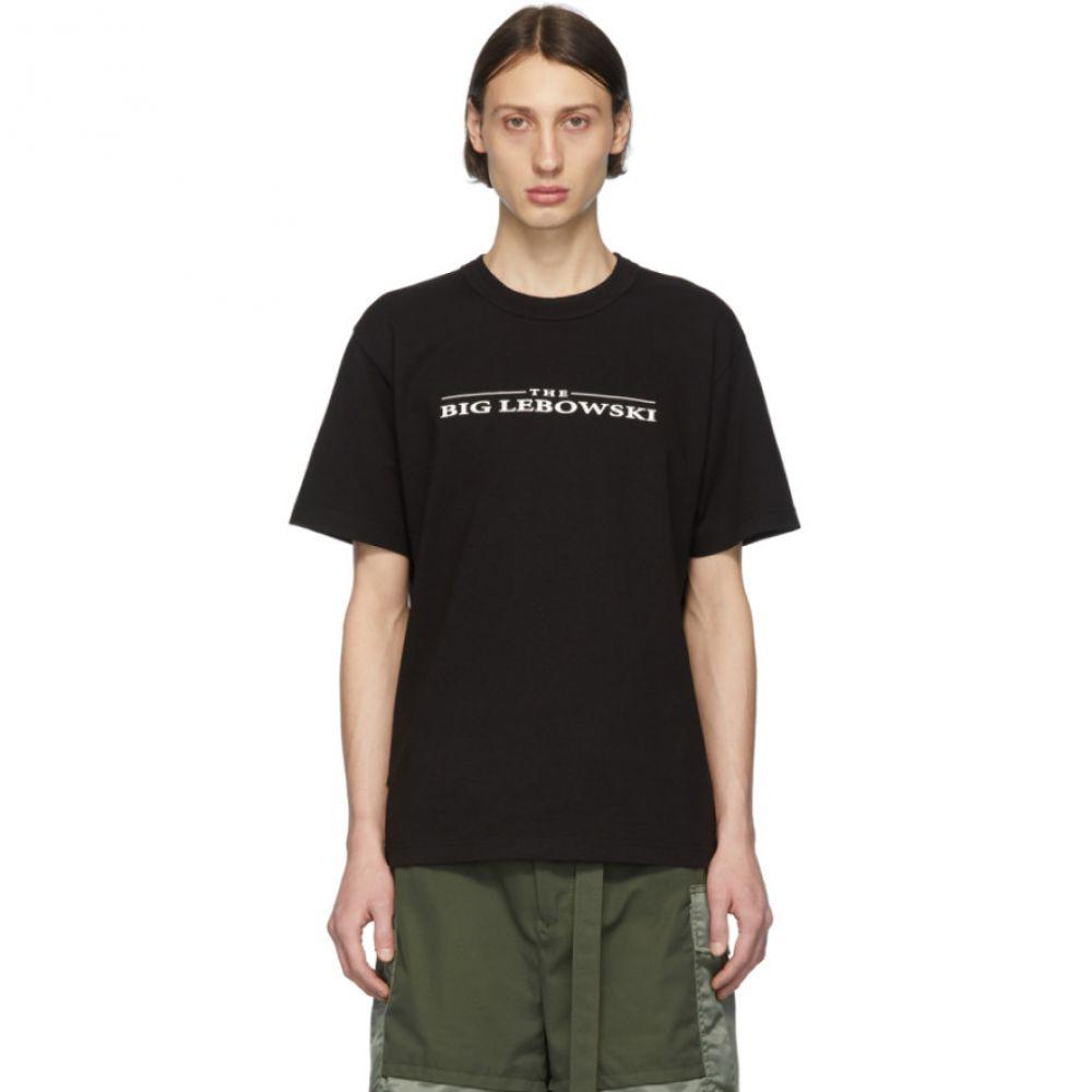 サカイ Sacai メンズ Tシャツ トップス【Black 'The Big Lebowski' T-Shirt】Black/White