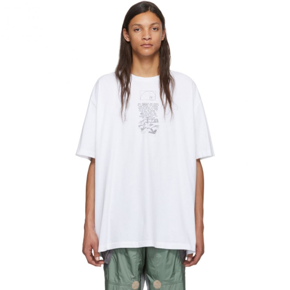 オフホワイト Off-White メンズ Tシャツ トップス【White Dripping Arrows T-Shirt】White/Black