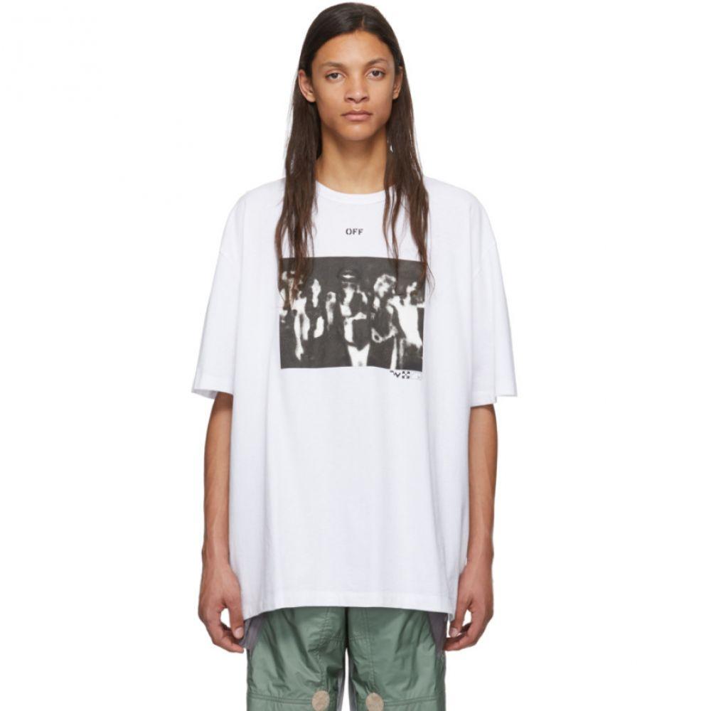オフホワイト Off-White メンズ Tシャツ トップス【White Spray Paint T-Shirt】White