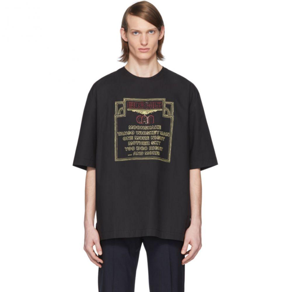 ルメール Lemaire メンズ Tシャツ トップス【Black Can Edition Big Hit T-Shirt】Black