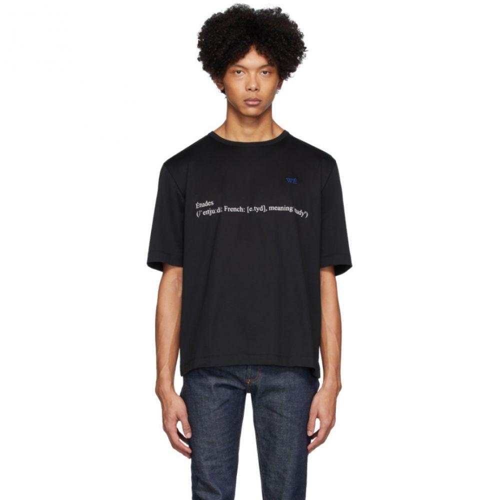エチュード Etudes メンズ Tシャツ トップス【Black Unity Definition T-Shirt】Black