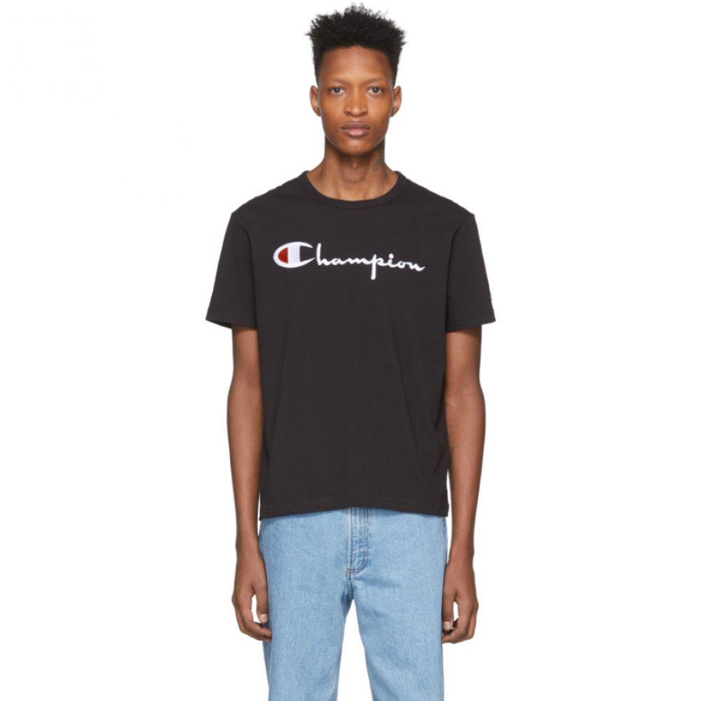チャンピオン Champion Reverse Weave メンズ Tシャツ トップス【Black Big Script Logo T-Shirt】Black