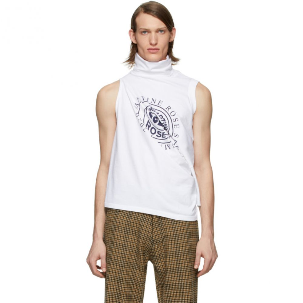 マーティン ローズ Martine Rose メンズ Tシャツ トップス【White Two Way T-Shirt】White