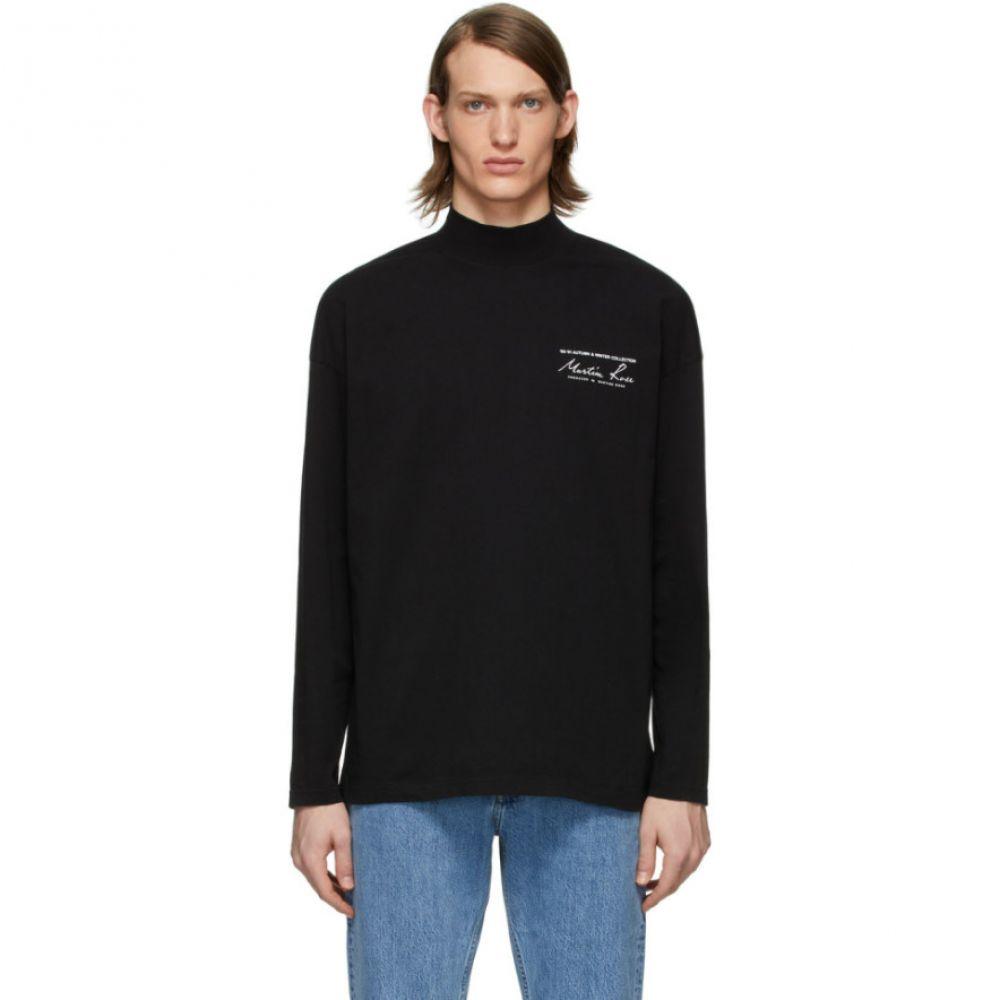 マーティン ローズ Martine Rose メンズ Tシャツ トップス【Black Funnel Neck T-Shirt】Black