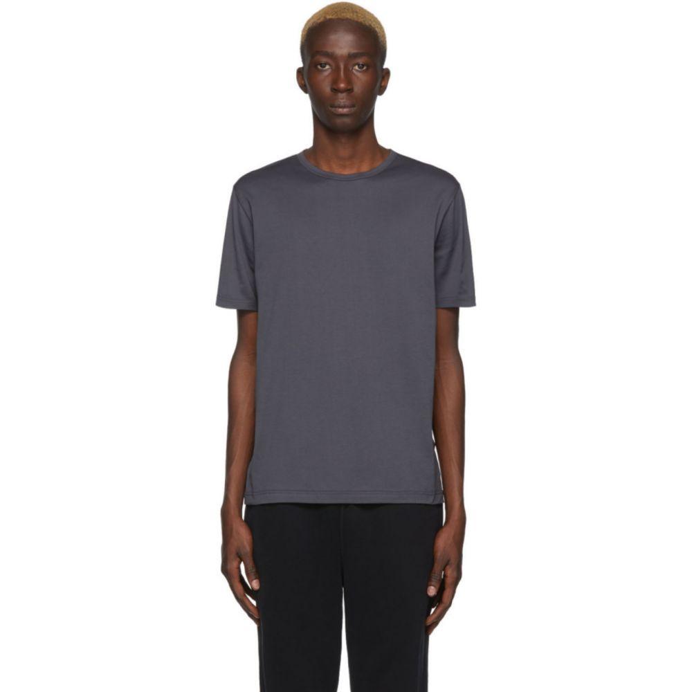 サンスペル Sunspel メンズ Tシャツ トップス【Grey Cotton Classic T-Shirt】Grey