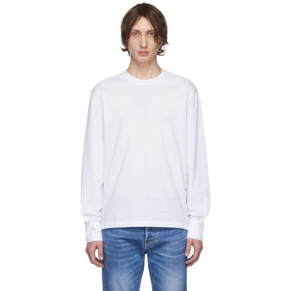 ディースクエアード Dsquared2 メンズ 長袖Tシャツ トップス【White Stud Fit Long Sleeve T-Shirt】White