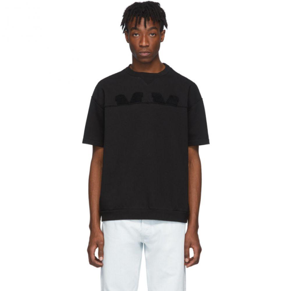 メゾン マルジェラ Maison Margiela メンズ Tシャツ トップス【Black Embroidered Logo T-Shirt】Black