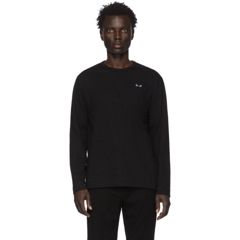 コム デ ギャルソン Comme des Garcons Play メンズ 長袖Tシャツ トップス【Black Heart Patch Long Sleeve T-Shirt】Black