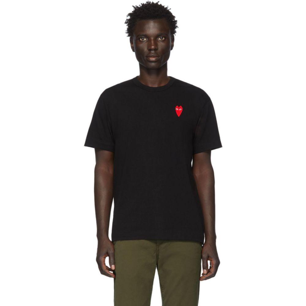 コム デ ギャルソン Comme des Garcons Play メンズ Tシャツ トップス【Black & Red Long Heart Patch T-Shirt】Black