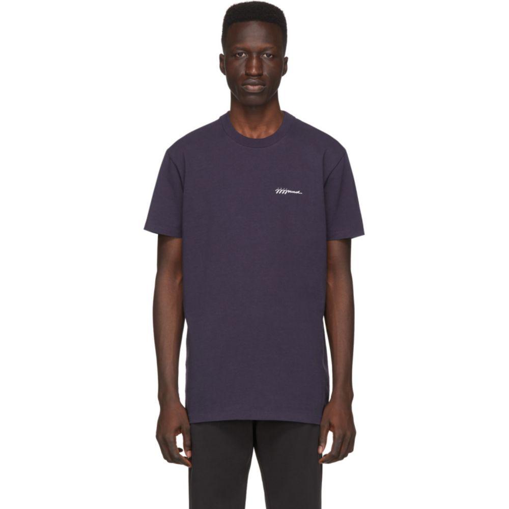 アーペーセー A.P.C. メンズ Tシャツ トップス【Navy JJJJound Edition Logo T-Shirt】Dark navy