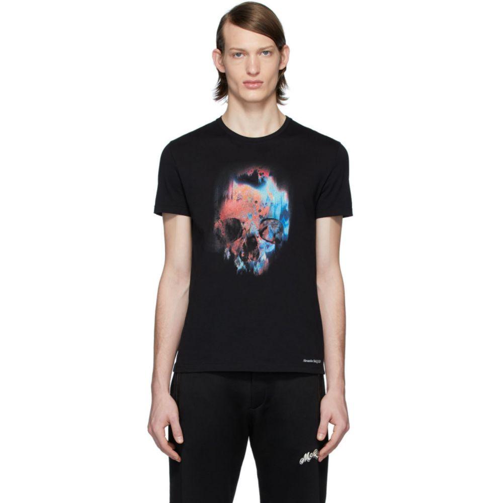 アレキサンダー マックイーン Alexander McQueen メンズ Tシャツ トップス【Black Sprayed Skull T-Shirt】Black mix