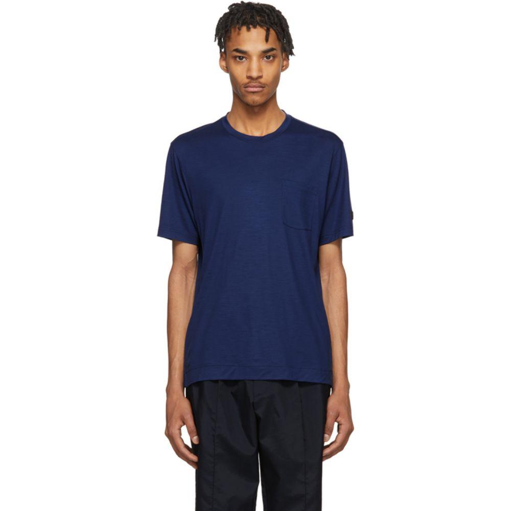 ジーゼニア Z Zegna メンズ Tシャツ トップス【Blue TechMerino T-Shirt】Blue
