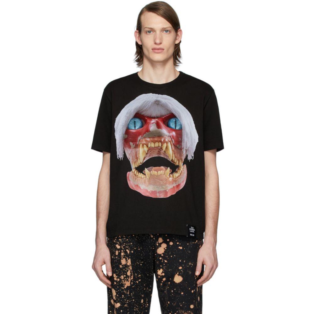 S.R. スタジオ. LA. CA. S.R. STUDIO. LA. CA. メンズ Tシャツ トップス【Black ED. 50 White Haired Red Skull T-Shirt】Black