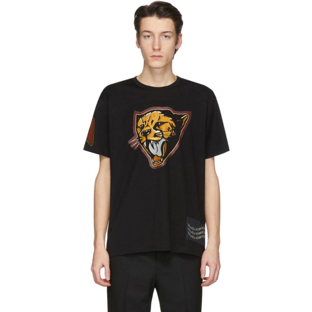 ジバンシー Givenchy メンズ Tシャツ トップス【Black Cheetah T-Shirt】Black