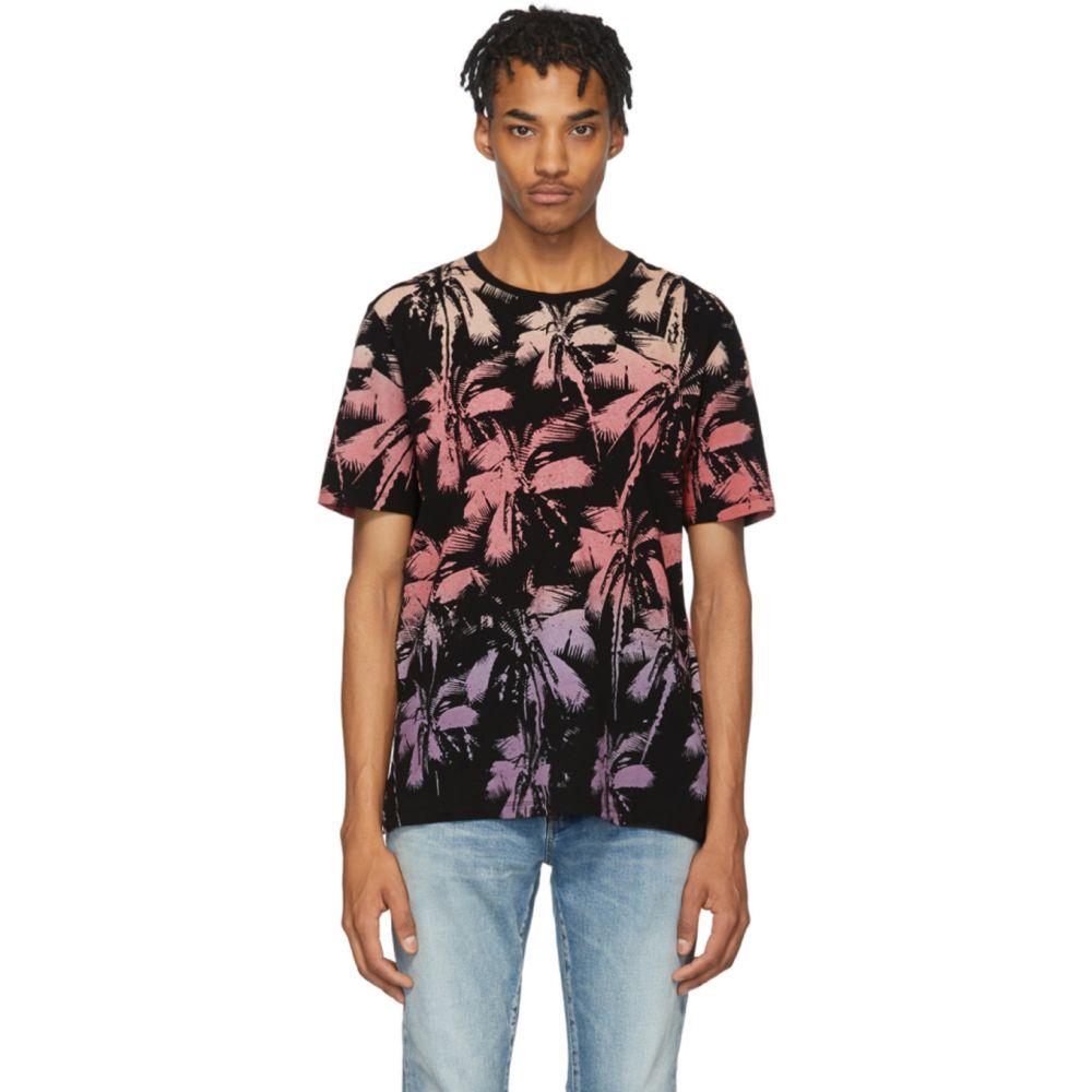 イヴ サンローラン Saint Laurent メンズ Tシャツ トップス【Black Palm T-Shirt】Black/Blue