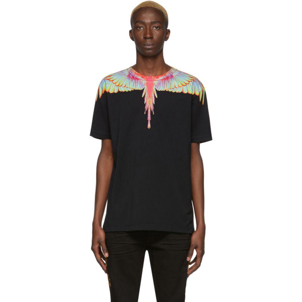マルセロバーロン Marcelo Burlon County of Milan メンズ Tシャツ トップス【Black Fluo Wings T-Shirt】Black/Blue