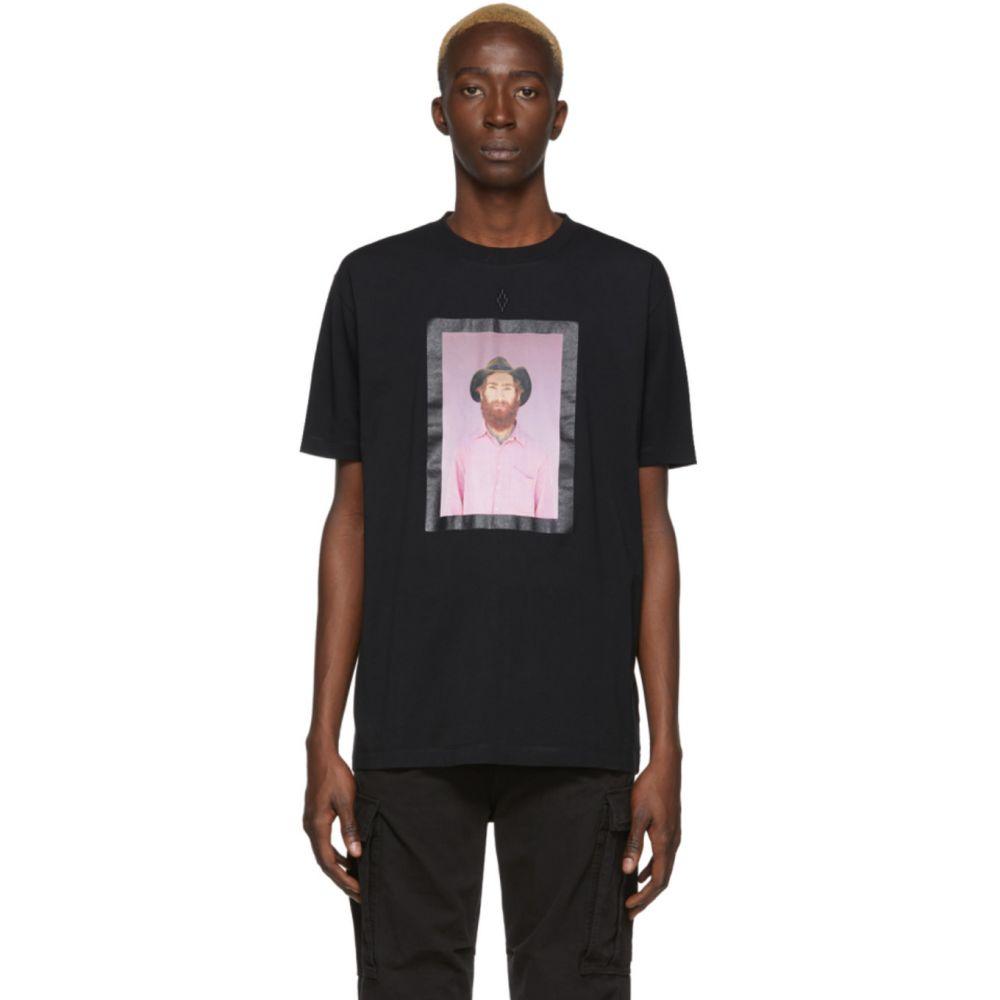マルセロバーロン Marcelo Burlon County of Milan メンズ Tシャツ トップス【Black Gaucho Frame T-Shirt】Black