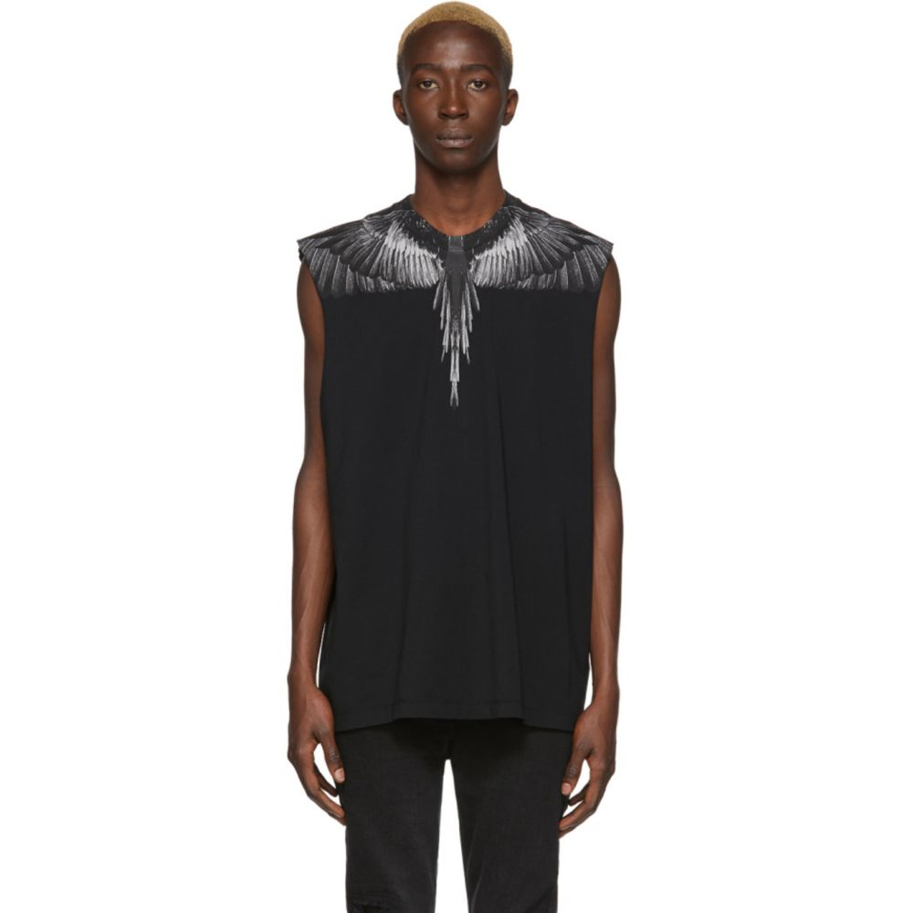 マルセロバーロン Marcelo Burlon County of Milan メンズ ノースリーブ トップス【Black Wings Sleeveless T-Shirt】Black/Black