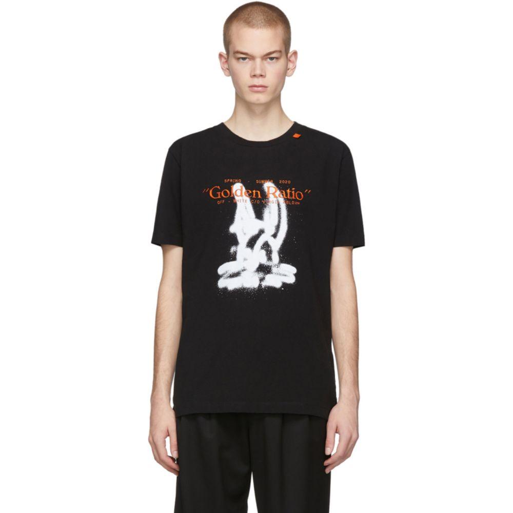 オフホワイト Off-White メンズ Tシャツ トップス【Black Cartoon T-Shirt】Black white