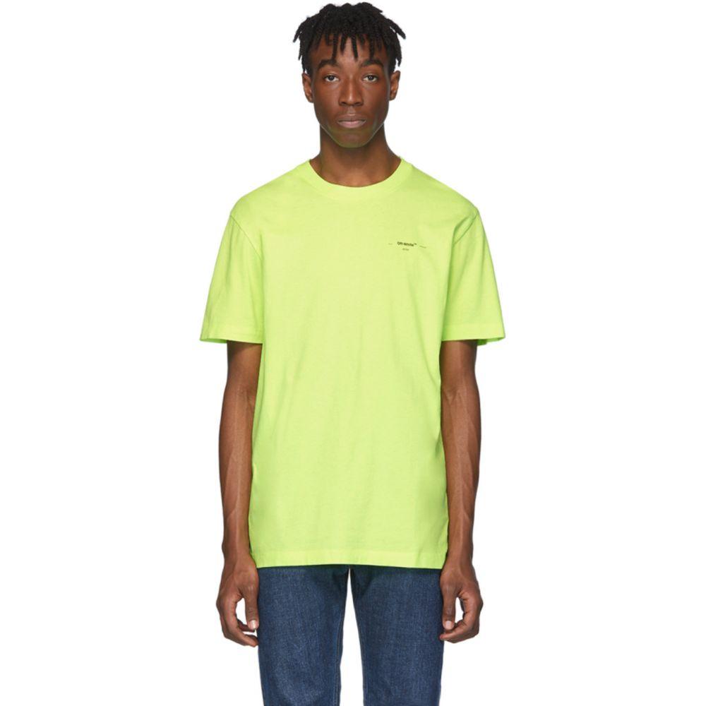 オフホワイト Off-White メンズ Tシャツ トップス【Yellow Arrows T-Shirt】Fluo yellow