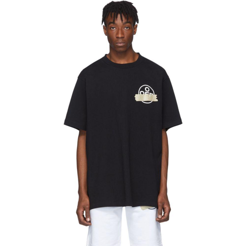 オフホワイト Off-White メンズ Tシャツ トップス【Black Tape Arrow T-Shirt】Black/Beige