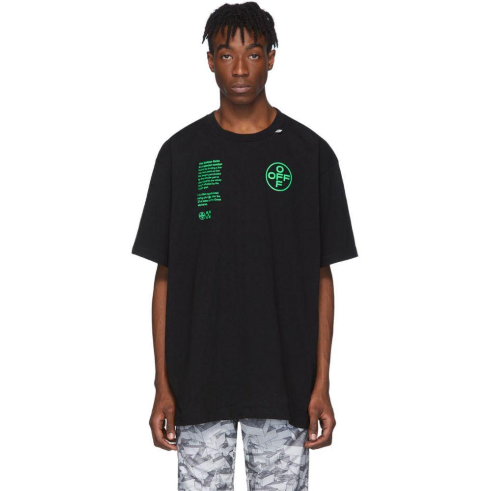 オフホワイト Off-White メンズ Tシャツ トップス【Black Architectural Shapes T-Shirt】Black brilliant green