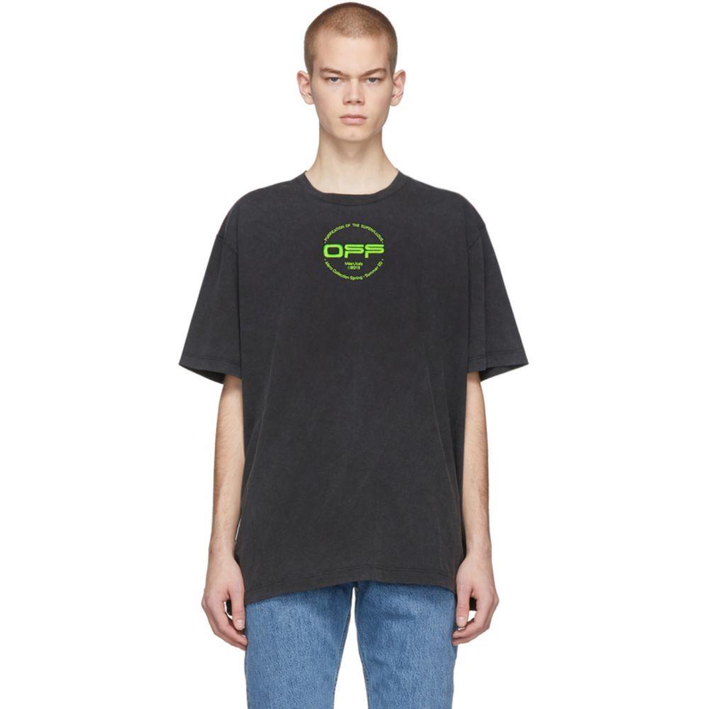 オフホワイト Off-White メンズ Tシャツ トップス【Black Hand Logo T-Shirt】Multicolor