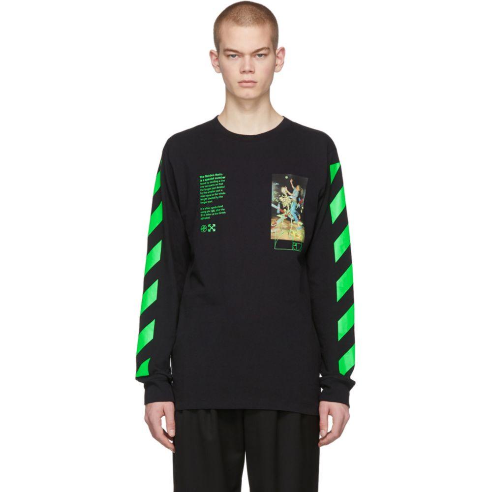 オフホワイト Off-White メンズ 長袖Tシャツ トップス【Black Pascal Painting Long Sleeve T-Shirt】Black/Multi