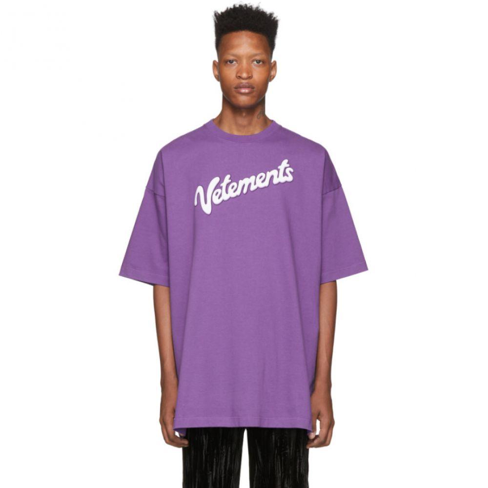 ヴェトモン VETEMENTS メンズ Tシャツ トップス【Purple Milk T-Shirt】Violet