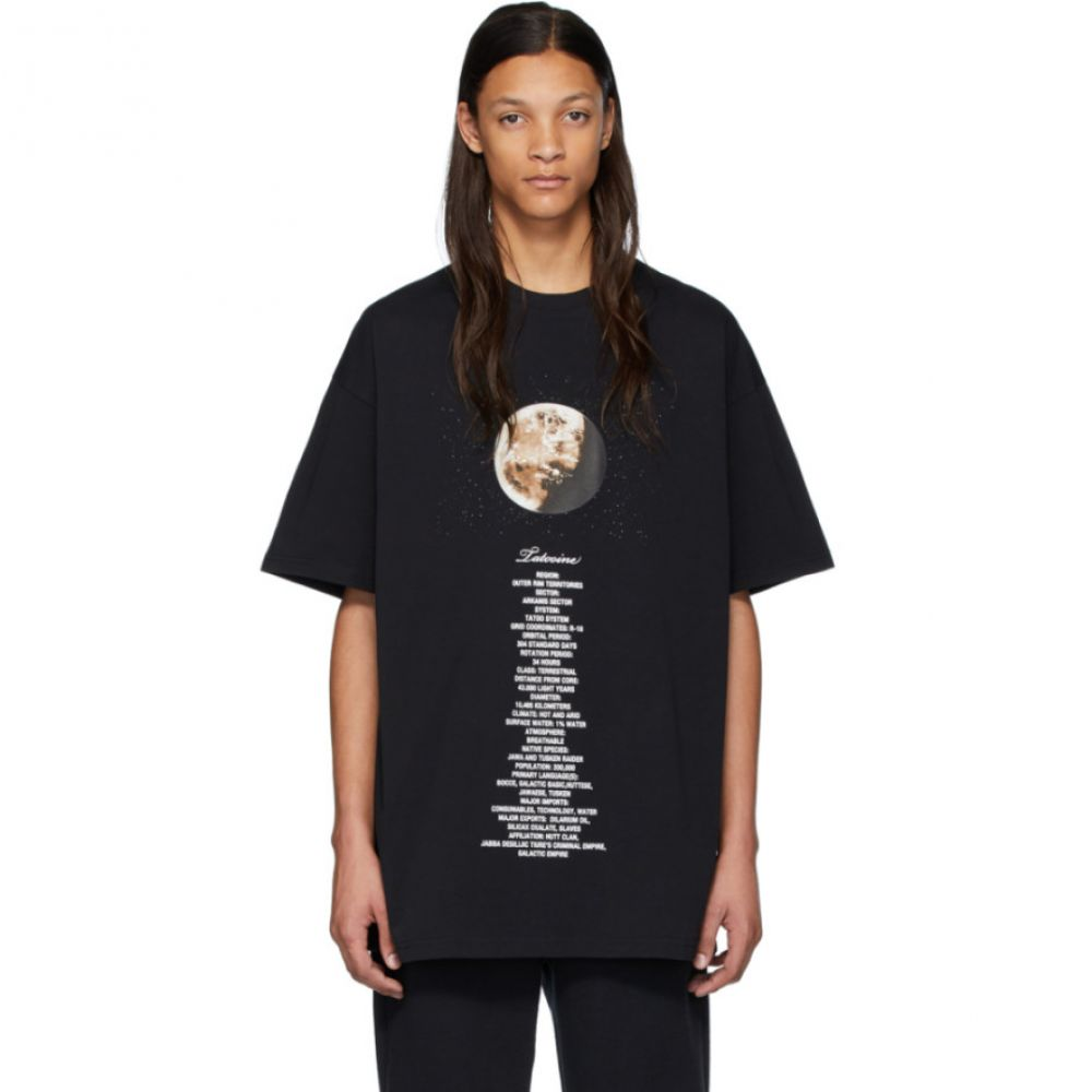 ヴェトモン VETEMENTS メンズ Tシャツ トップス【Black STAR WARS Edition Tatooine Episode IV T-Shirt】Black
